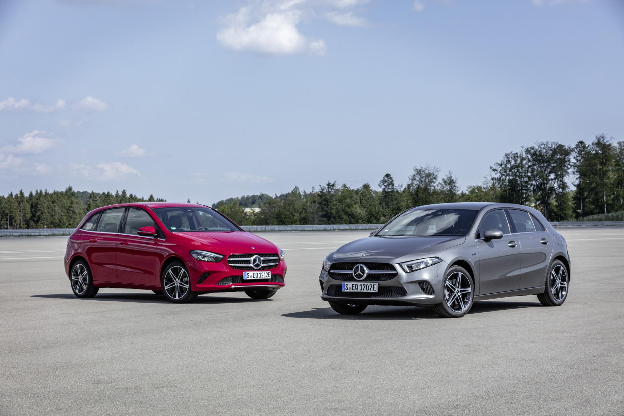 Mercedes-Benz Plug-in-Hybrid A 250 e en Mercedes-Benz Plug-in-Hybrid B 250