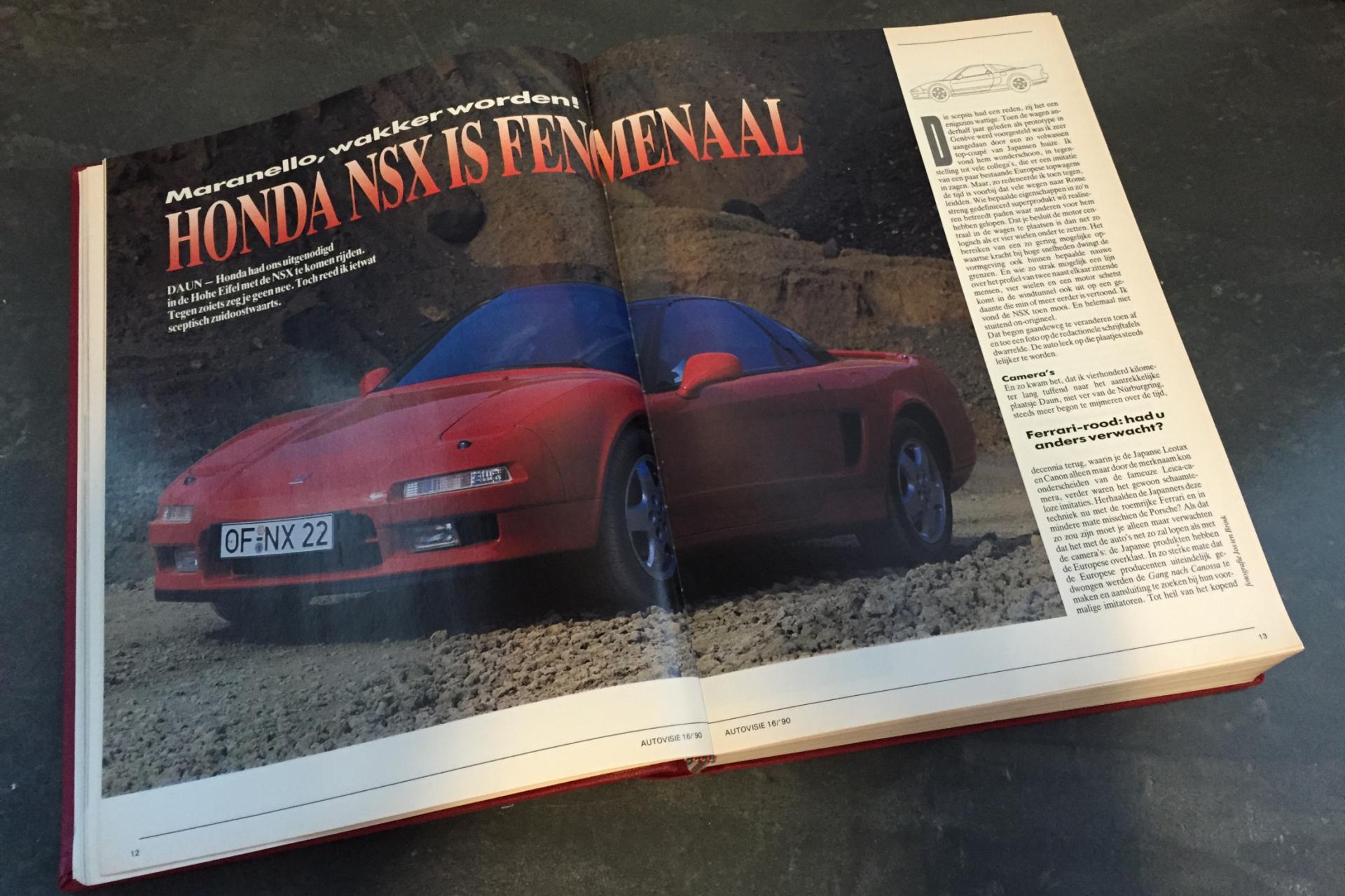 Rij-indruk Honda NSX, Autovisie 14, 1990.