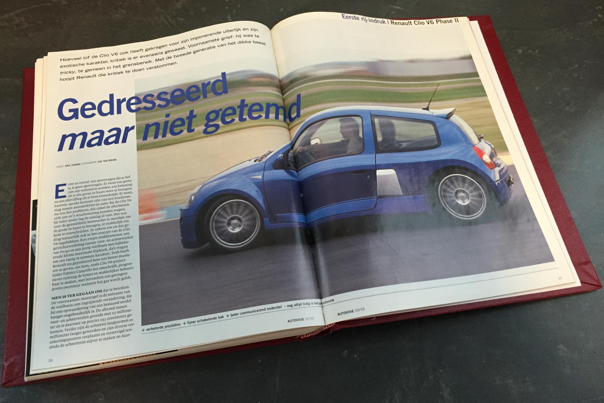 Rij-indruk Renault Clio V6, Autovisie 10, 2003