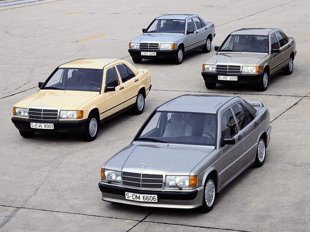 Mercedes-Benz 190-modellengamma. Fotocredit: Mercedes-Benz