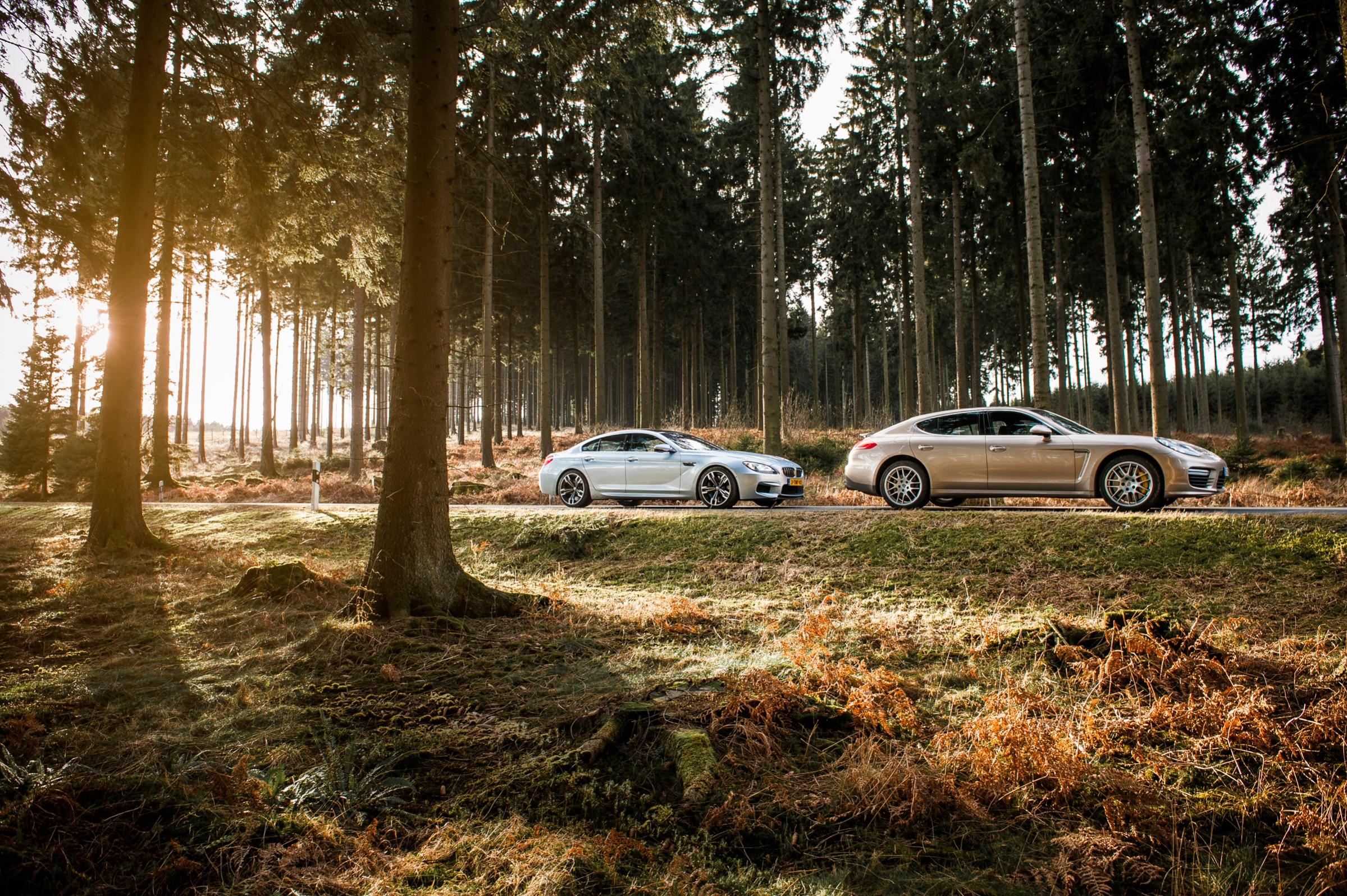 Reportage: Porsche Panamera Turbo S vs. BMW M6 Gran Coupé