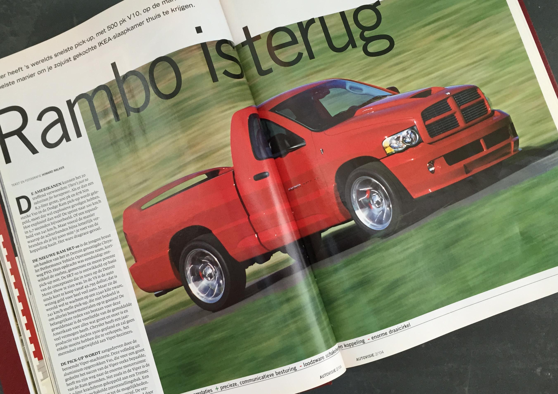 Rij-indruk Dodge Ram SRT-10, Autovisie 2, 2004