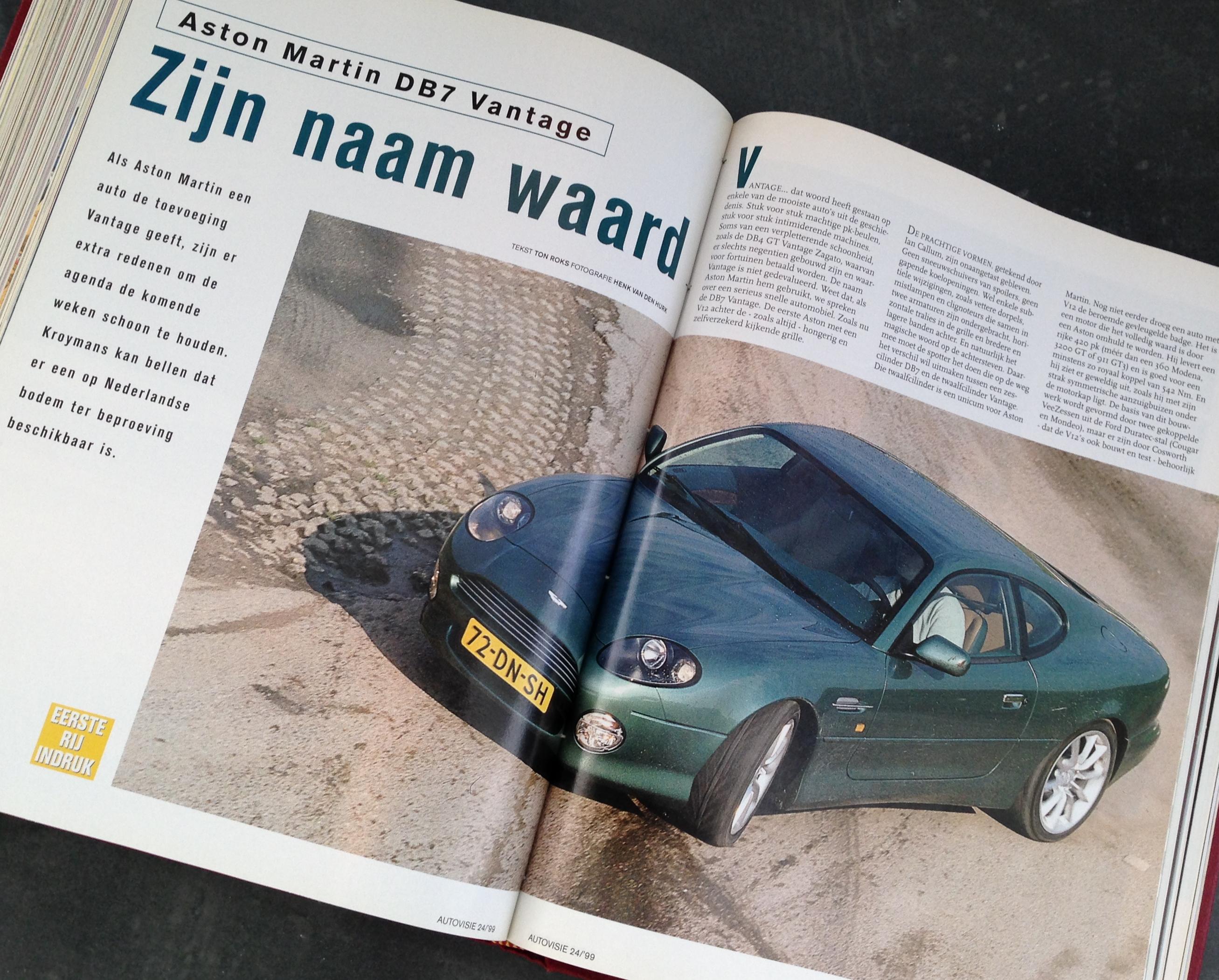 Rij-indruk Aston Martin DB7 Vantage, Autovisie 24, 1999