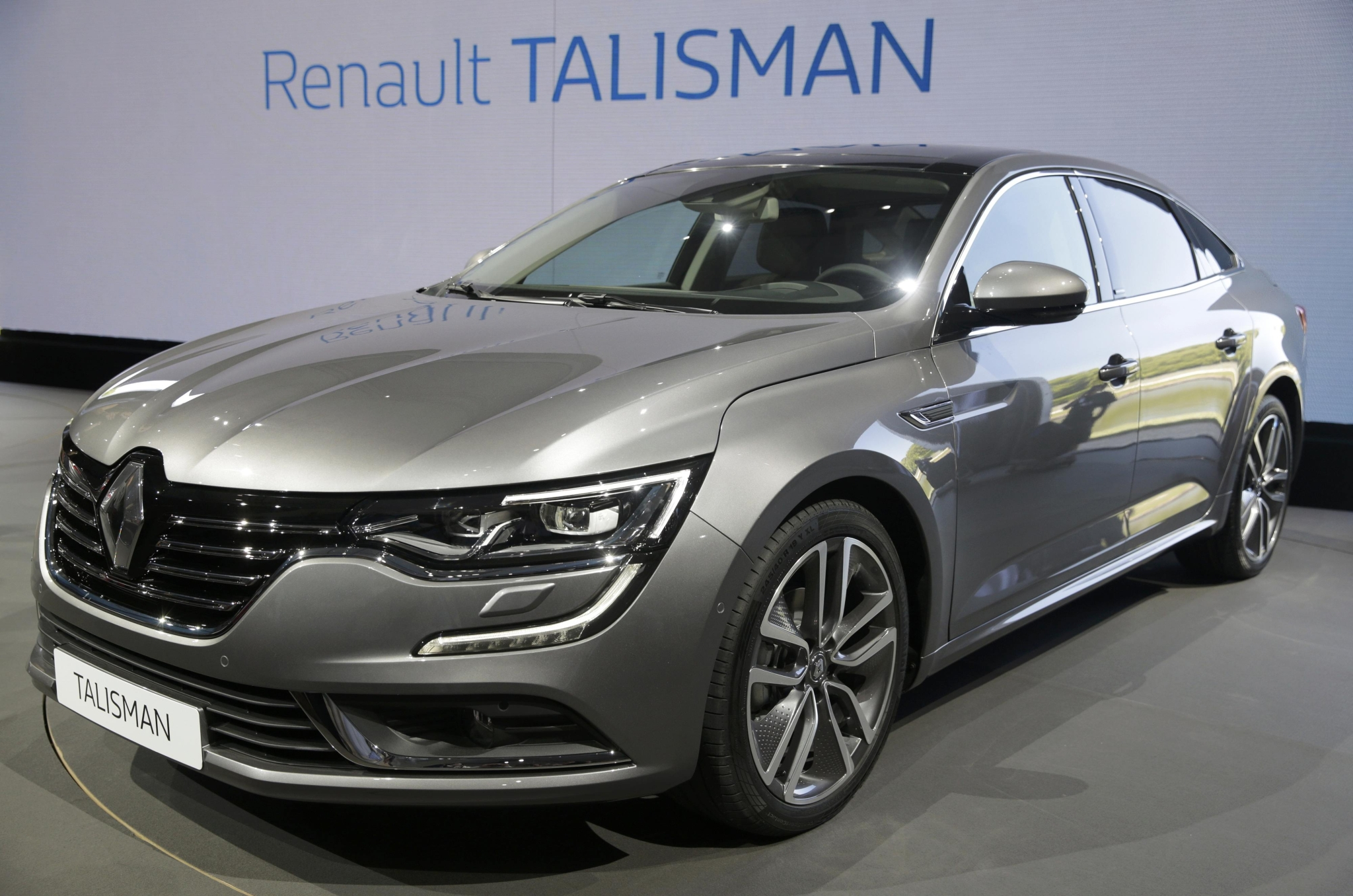 The new Renault's new D-segment saloon Talisman is unveiled during a press event at the Chateau de Chantilly near Paris