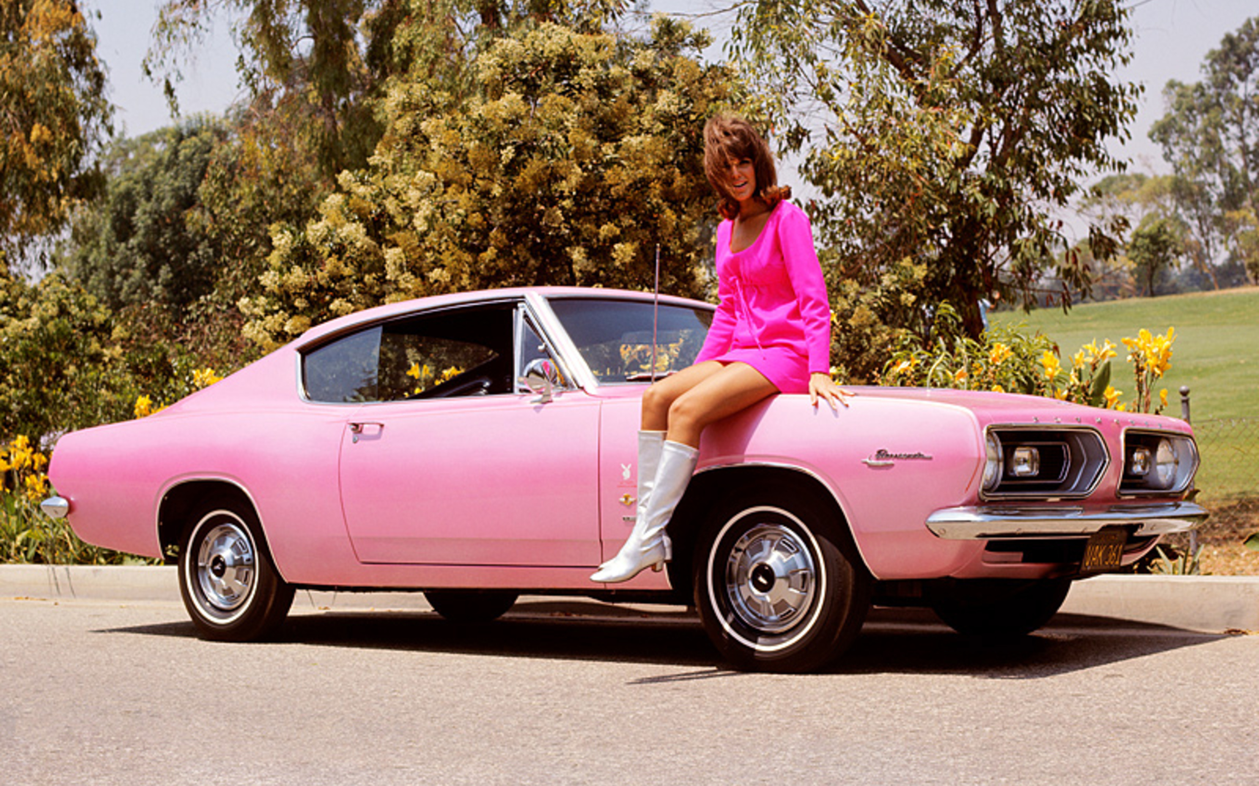 1967-Lisa-Baker-1967-Plymouth-Barracuda