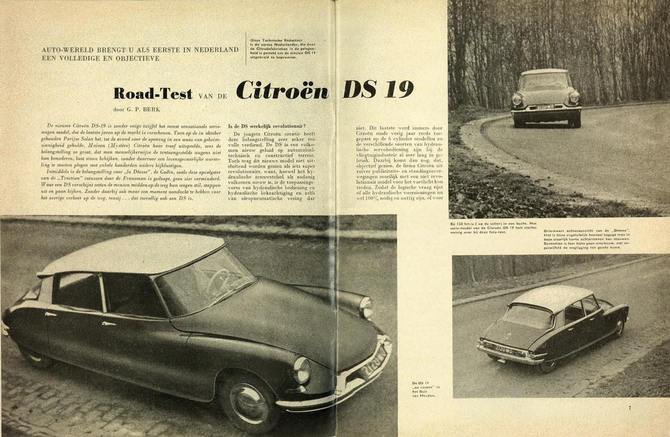 Eerste test Citroen DS uit 1956