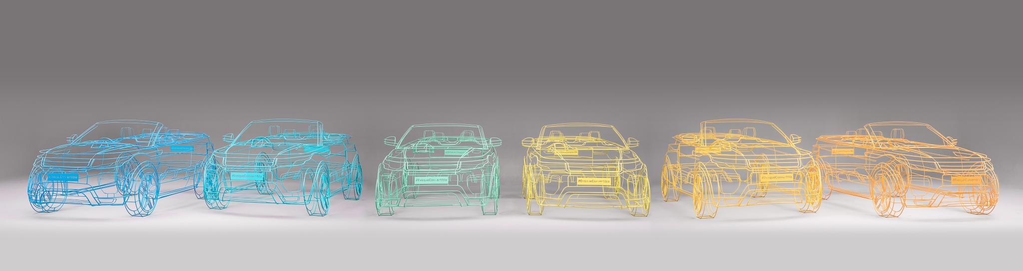 Land Rover Range Rover Evoque Convertible Wireframe Studio 006