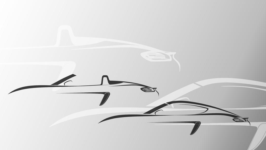 De silhouetten van de vernieuwde 718.