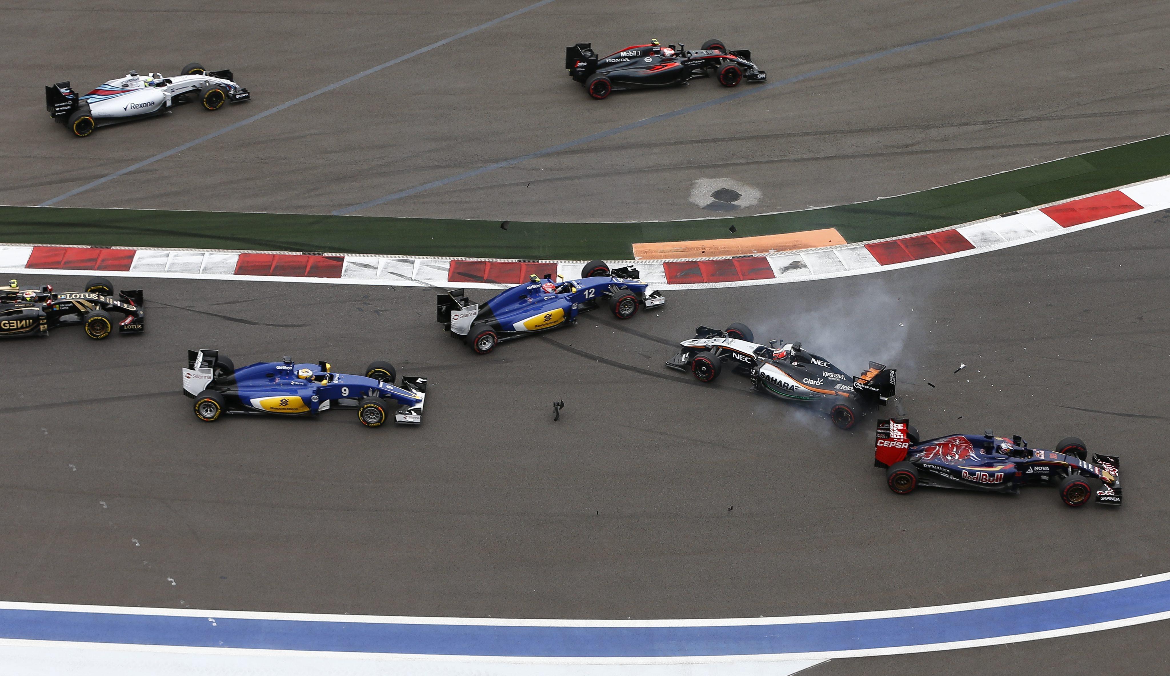 Crashes maken nog altijd een groot deel uit van Formule 1. Foto: EPA