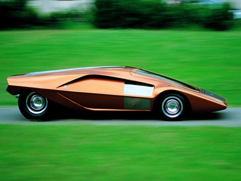 De Lancia Stratos HF Zero Concept van Bertone stond in 1970 op de autoshow van Turijn.