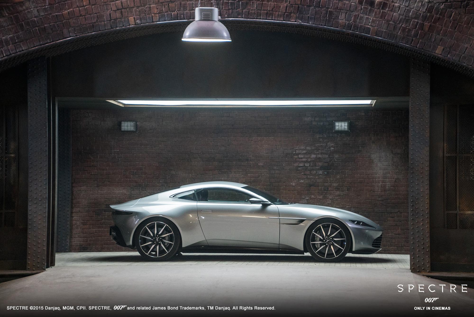 De Aston Martin DB10 in de nieuwste Bondfilm 'Spectre'. Foto: Aston Martin