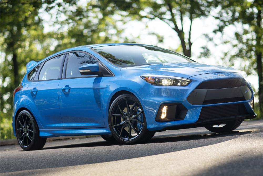De Ford Focus RS wordt nu ook in Amerika geleverd. Foto: Barrett-Jackson