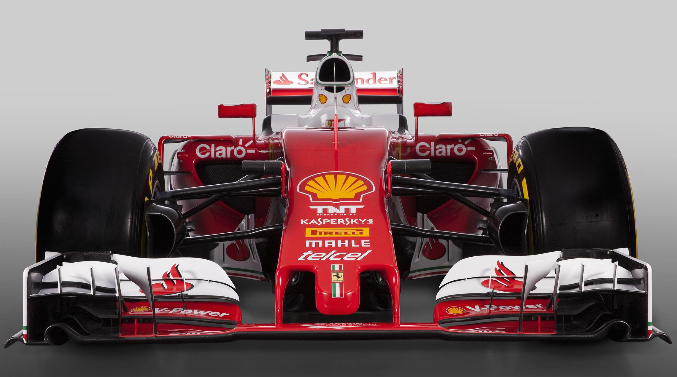 De Ferrari SF-16H, de auto van Kimi Räikkönen en Sebastian Vettel. Foto: Ferrari