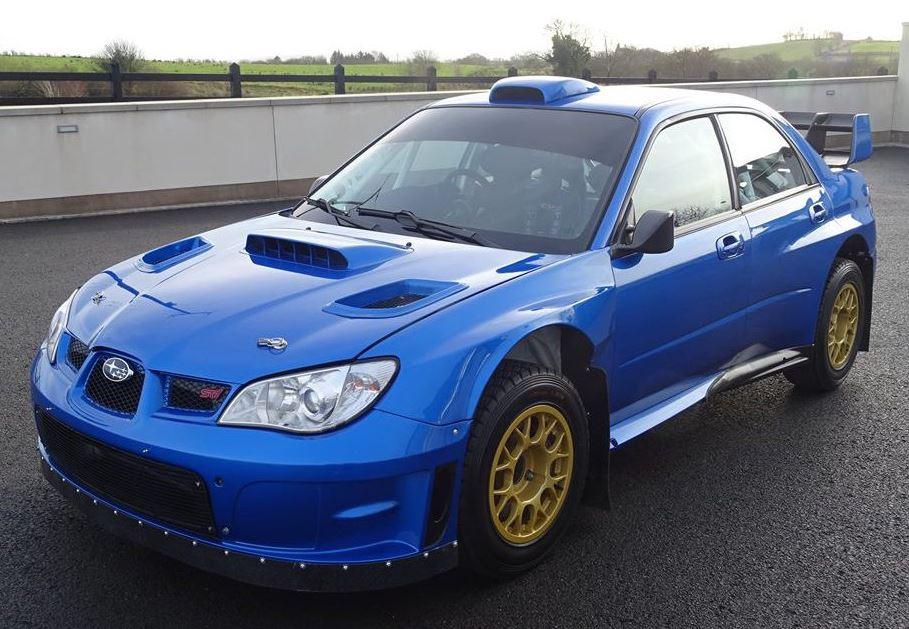 De laatste Subaru die Colin McRae ooit reed, deze WRC S12b. Foto: Rallysales.com