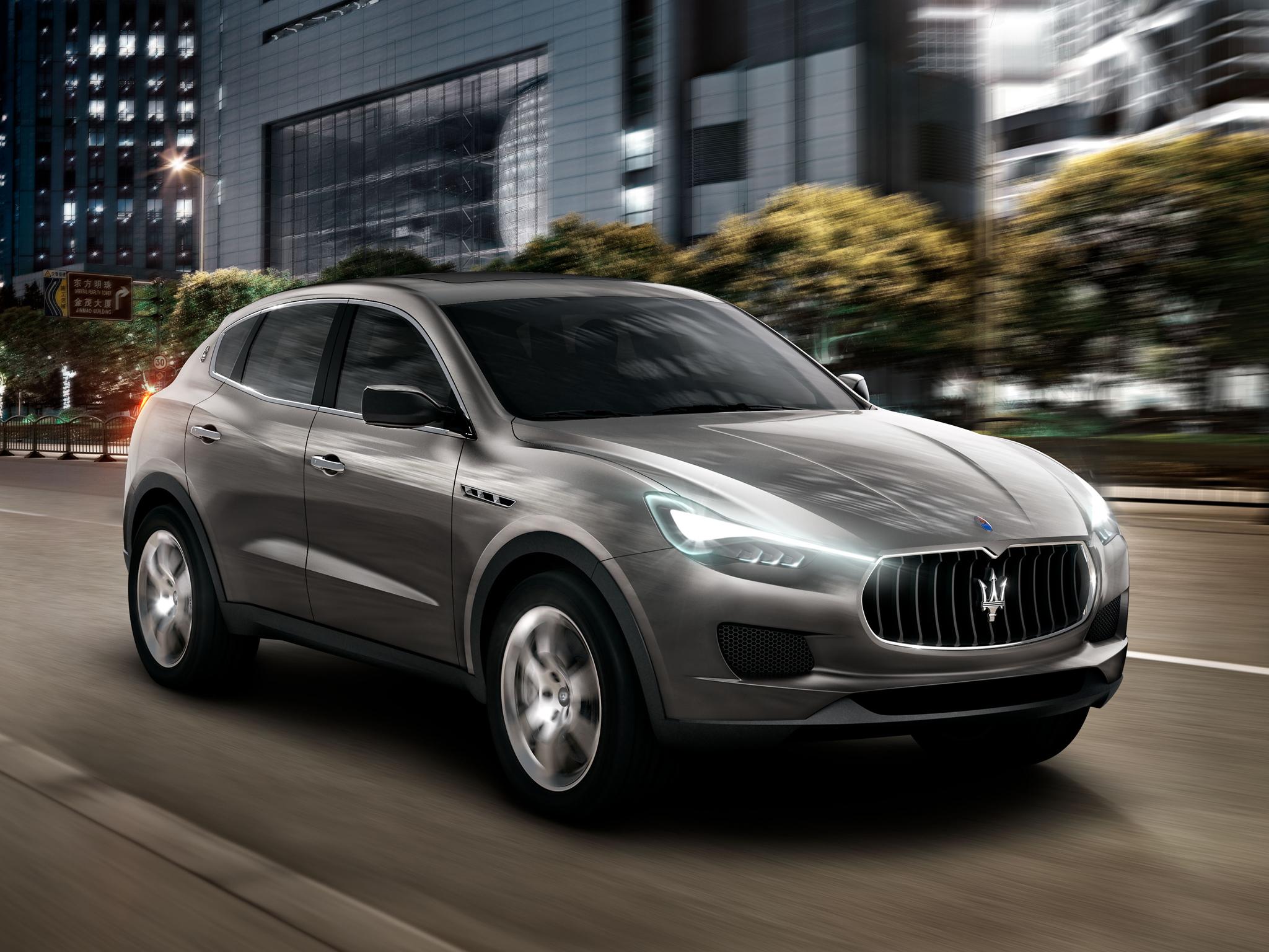 De Maserati Kubang Concept, waarop de nieuwe SUV gebaseerd is, werd al in 2011 voorgesteld. Foto: Maserati