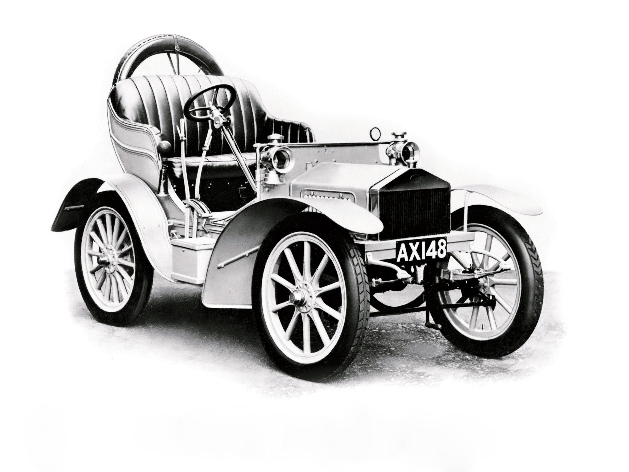 De Rolls-Royce 10hp was de eerste auto waar de namen van Rolls en Royce gezamenlijk op zaten. Foto: Rolls-Royce