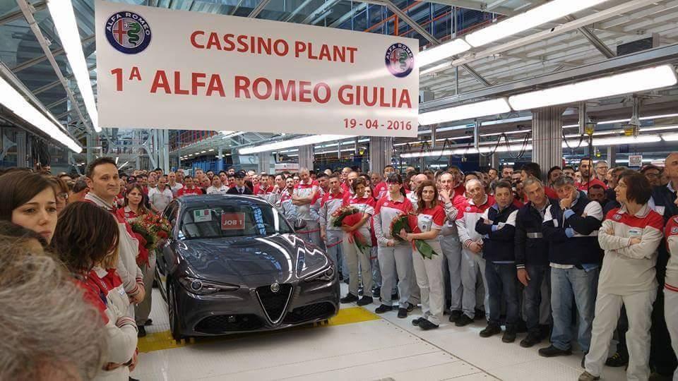 Alfa Romeo Giulia productiestart