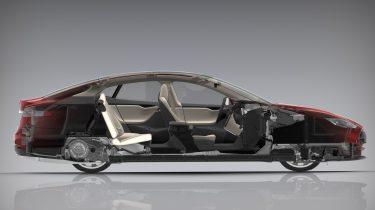 Tesla Model S doorsnee