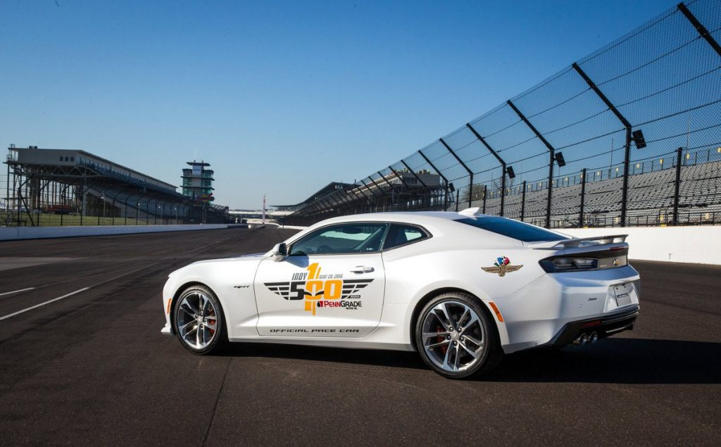 Chevrolet Camaro als pace car Indy 500 2016