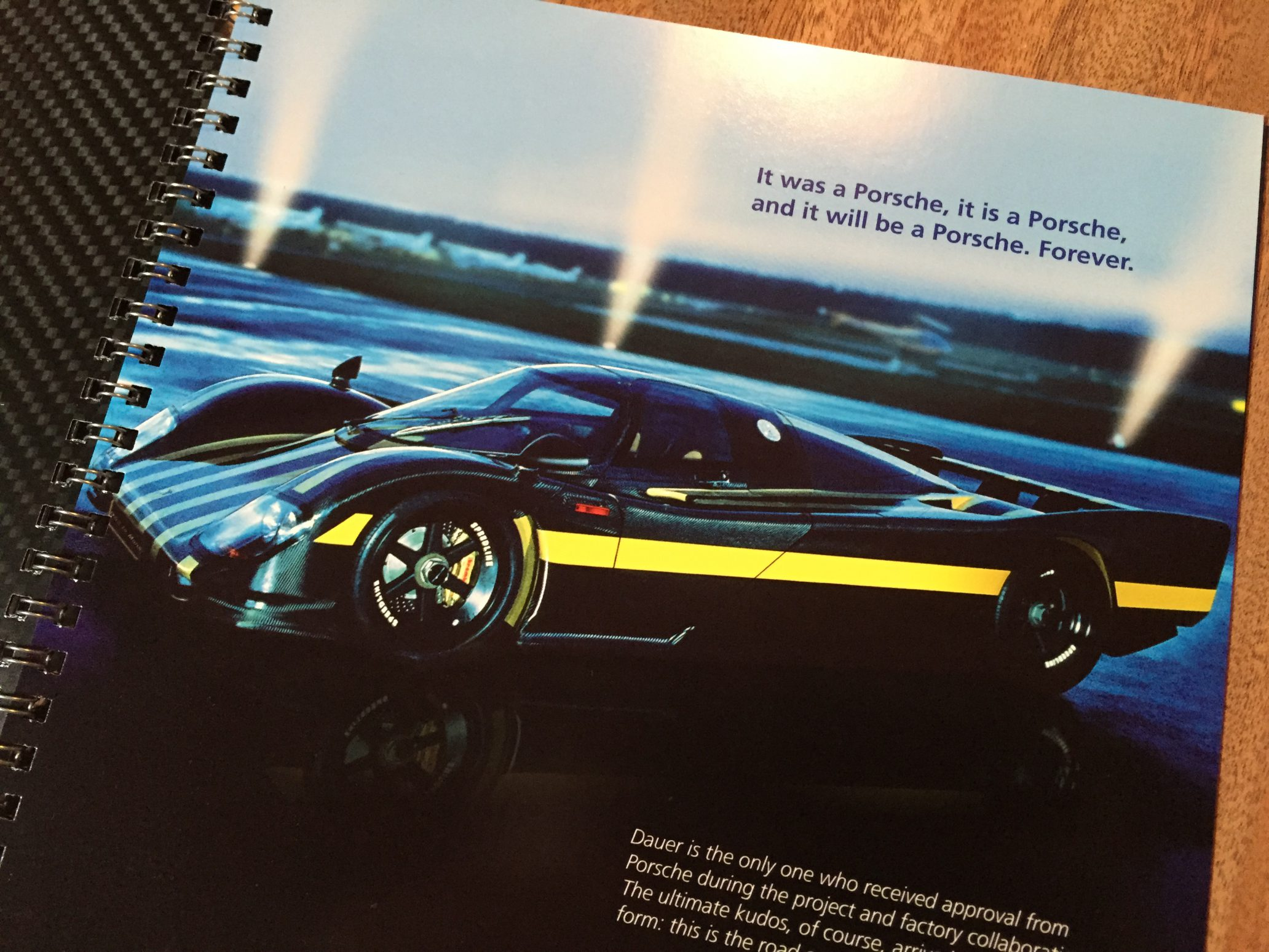 Autofolder Sjoerd van Bilsen Dauer 962 Le Mans
