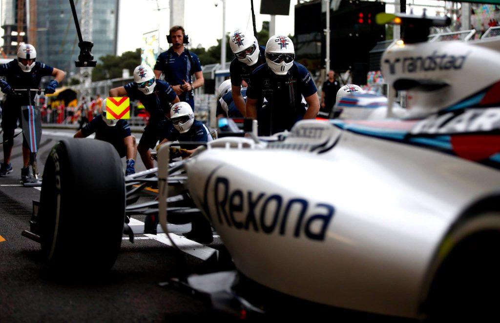 Williams F1 pitstop