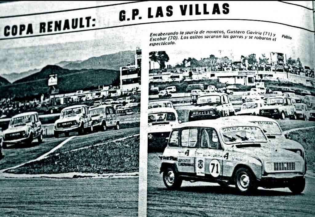 Pablo Escobar als autocoureur