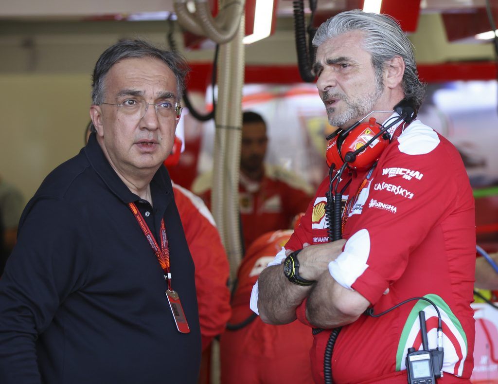 Sergio Marchionne en Maurizio Arrivabene.