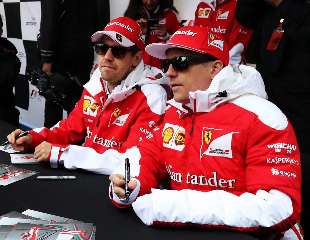 Sebastian Vettel en Kimi Raikkonen.