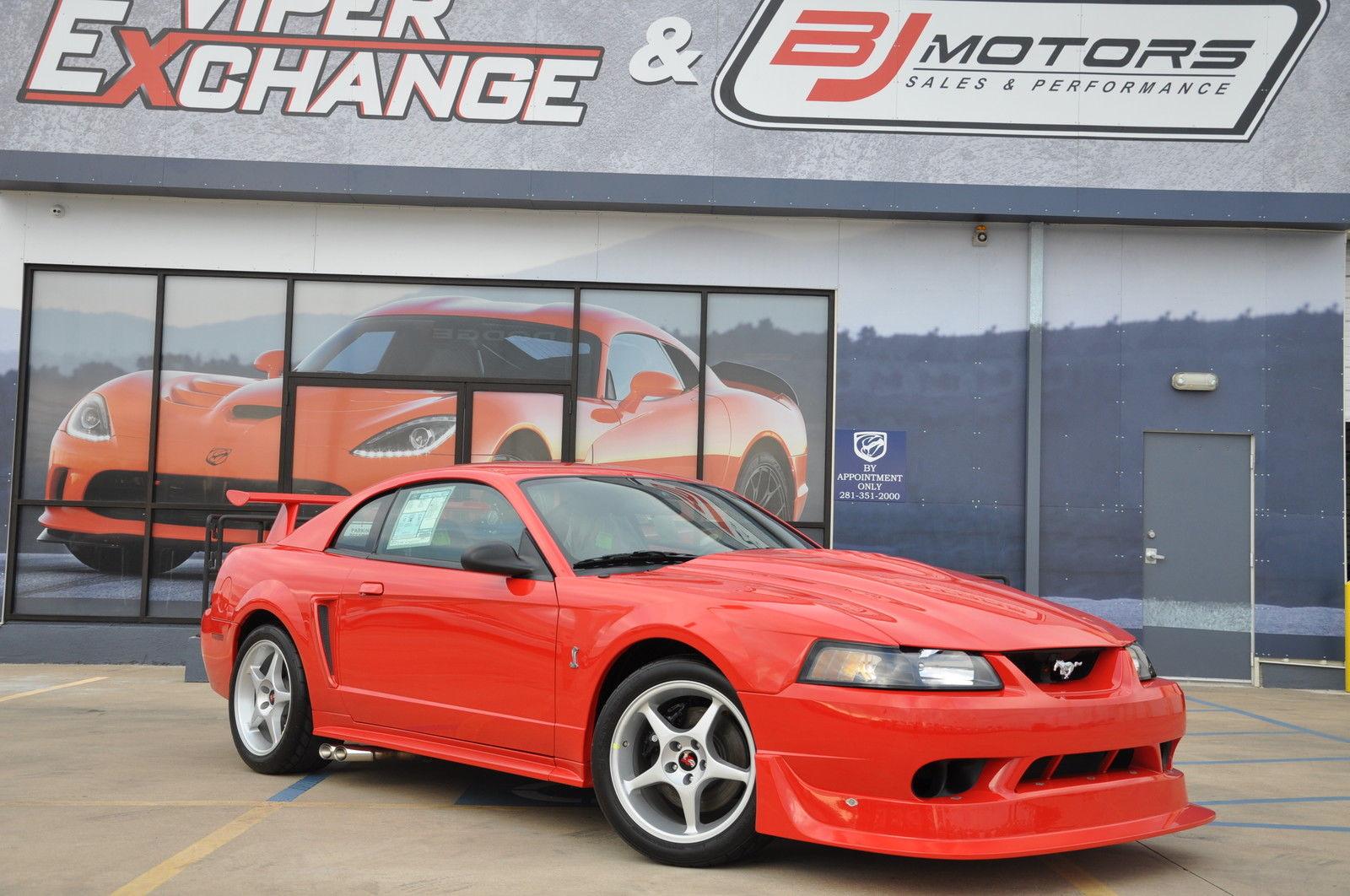 De Ford Mustang Cobra R bij de dealer in Texas. Foto: eBay