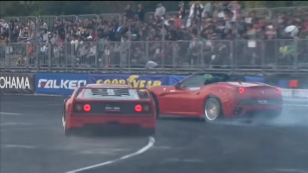 Ferrari F40 en California driften