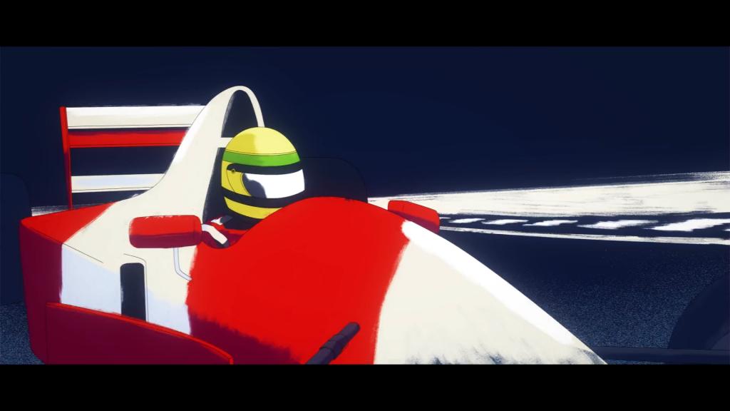 Ayrton Senna in animatie
