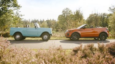 Range Rover Evoque Convertible versus International Harvester Scout