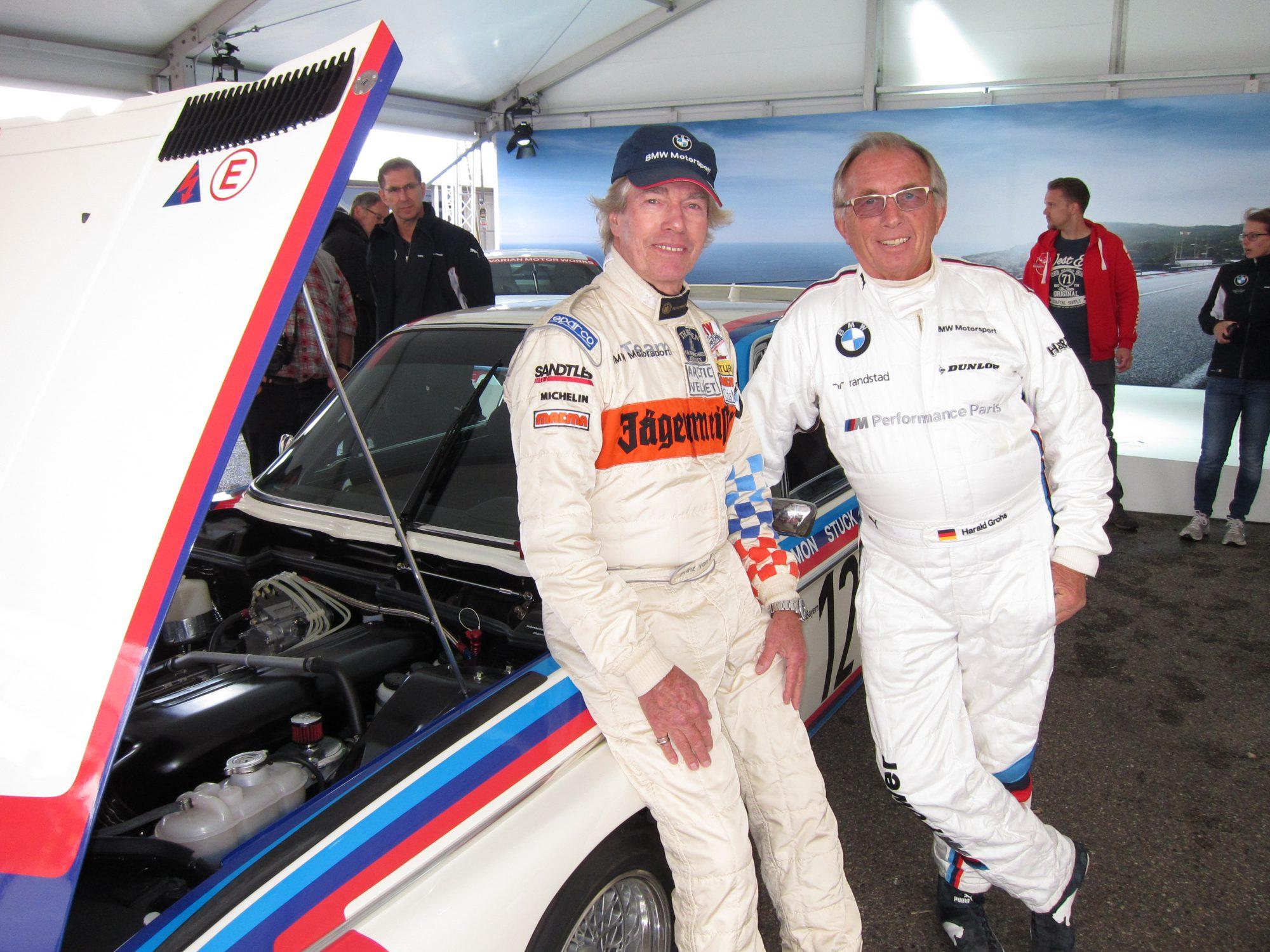 Leopold prins van Beieren (l.) en Harald Grohs. Historic Grand Prix Zandvoort 2016 Voor Journaal