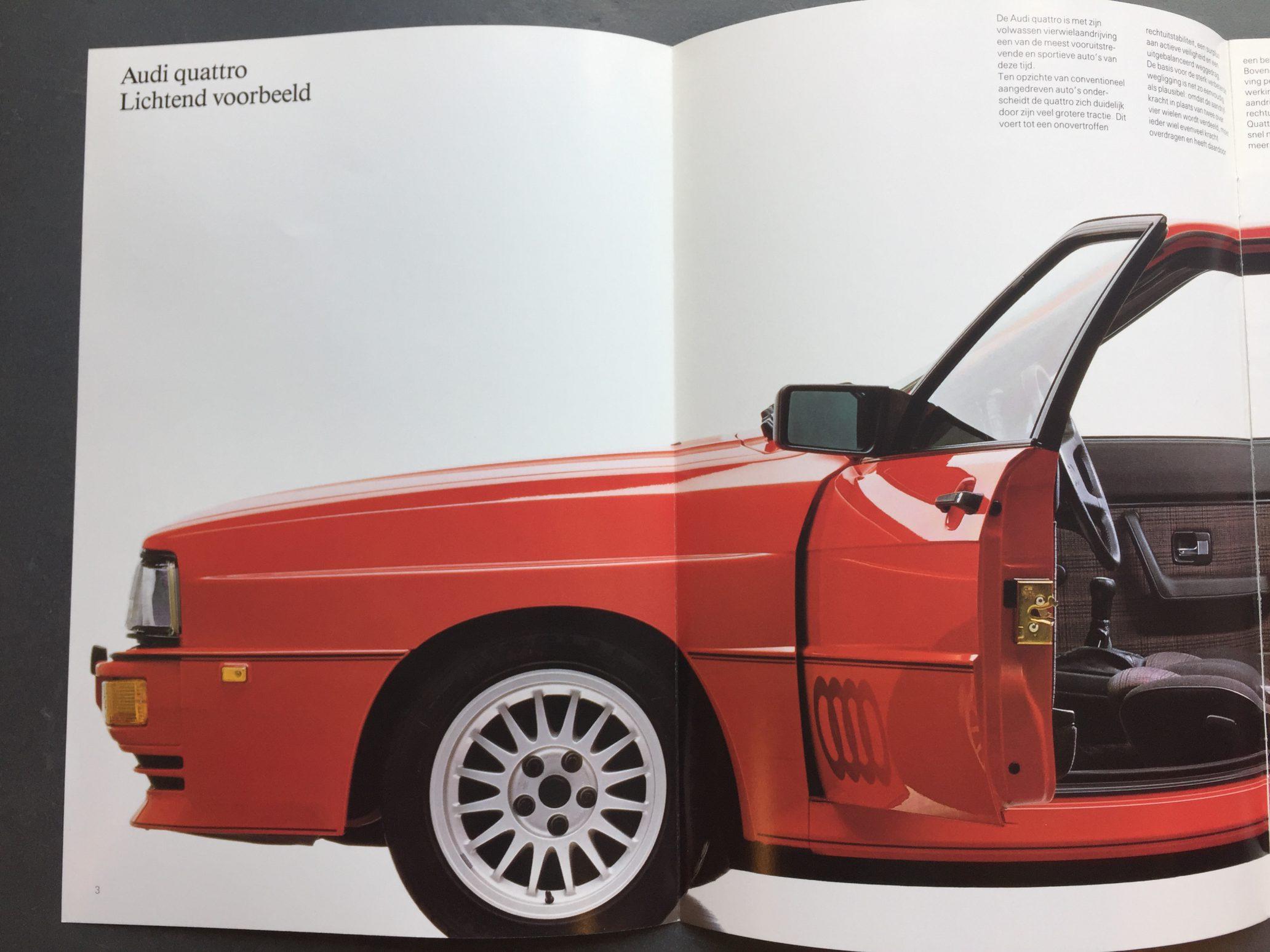 Autofolder autobrochure Audi Quattro