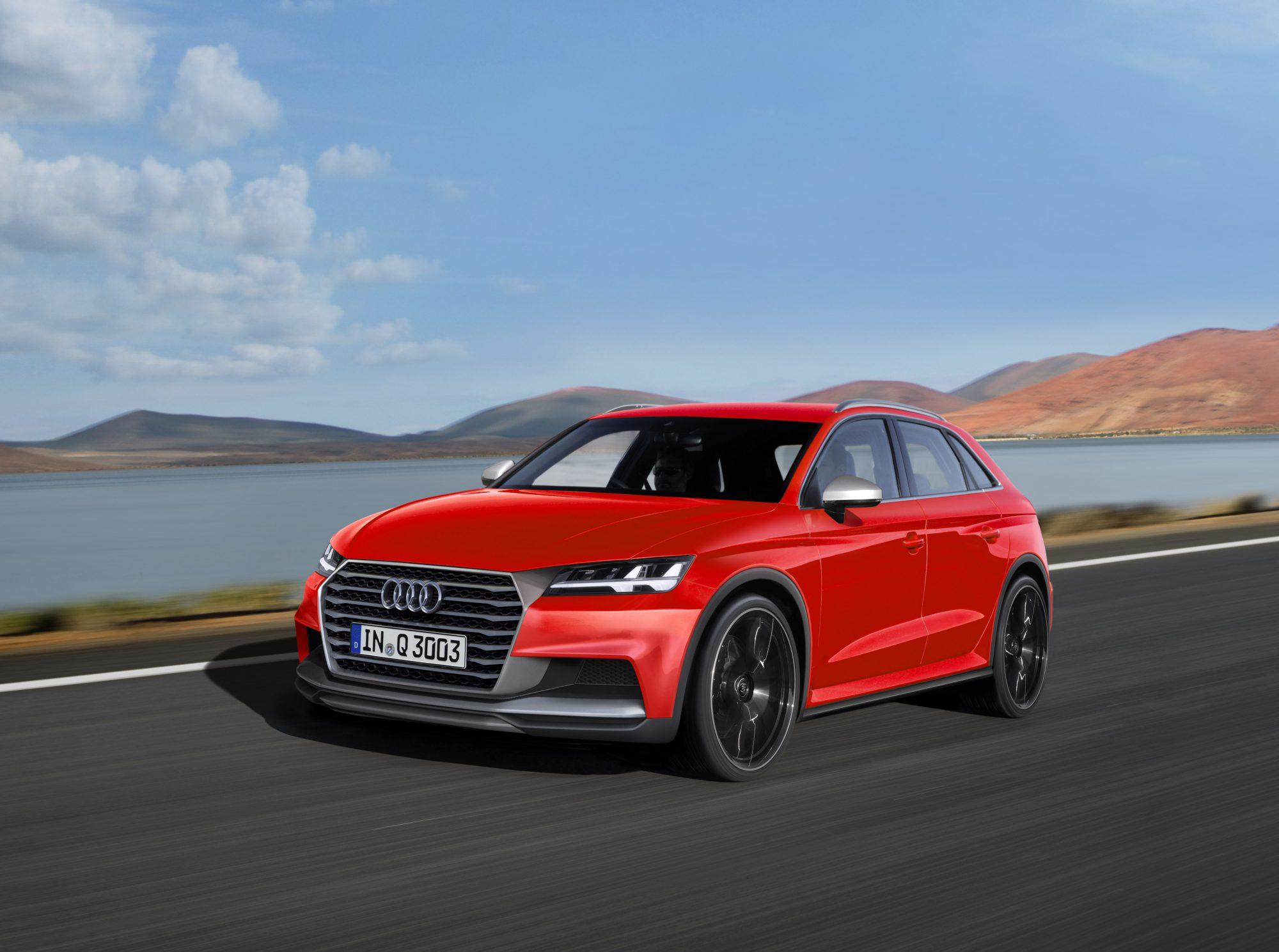Audi SUV, computerillustratie Schulte Design