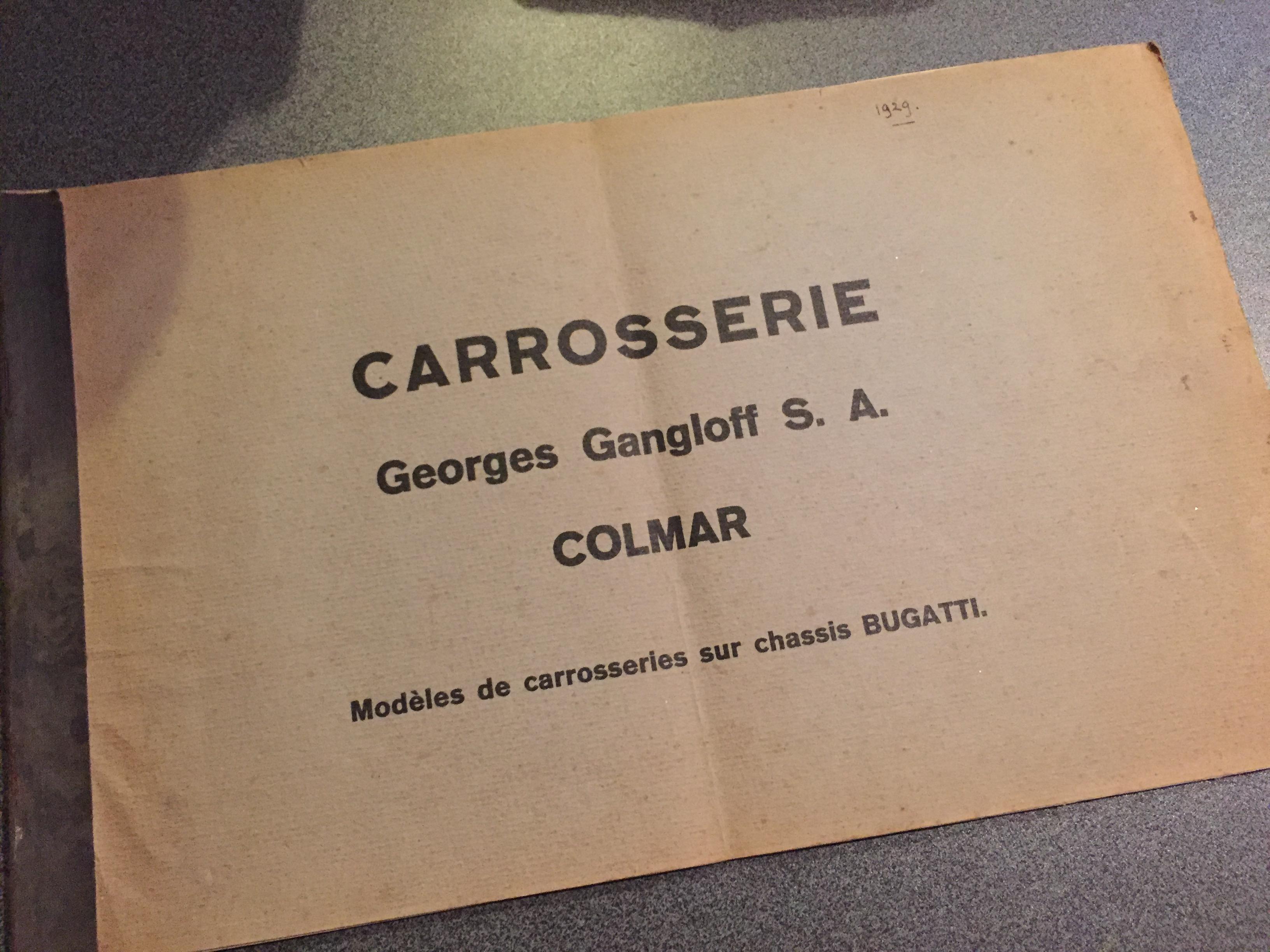 Autobrochure Gangloff Bugatti