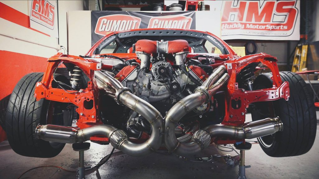 Toyota GT86 met Ferrari-motor