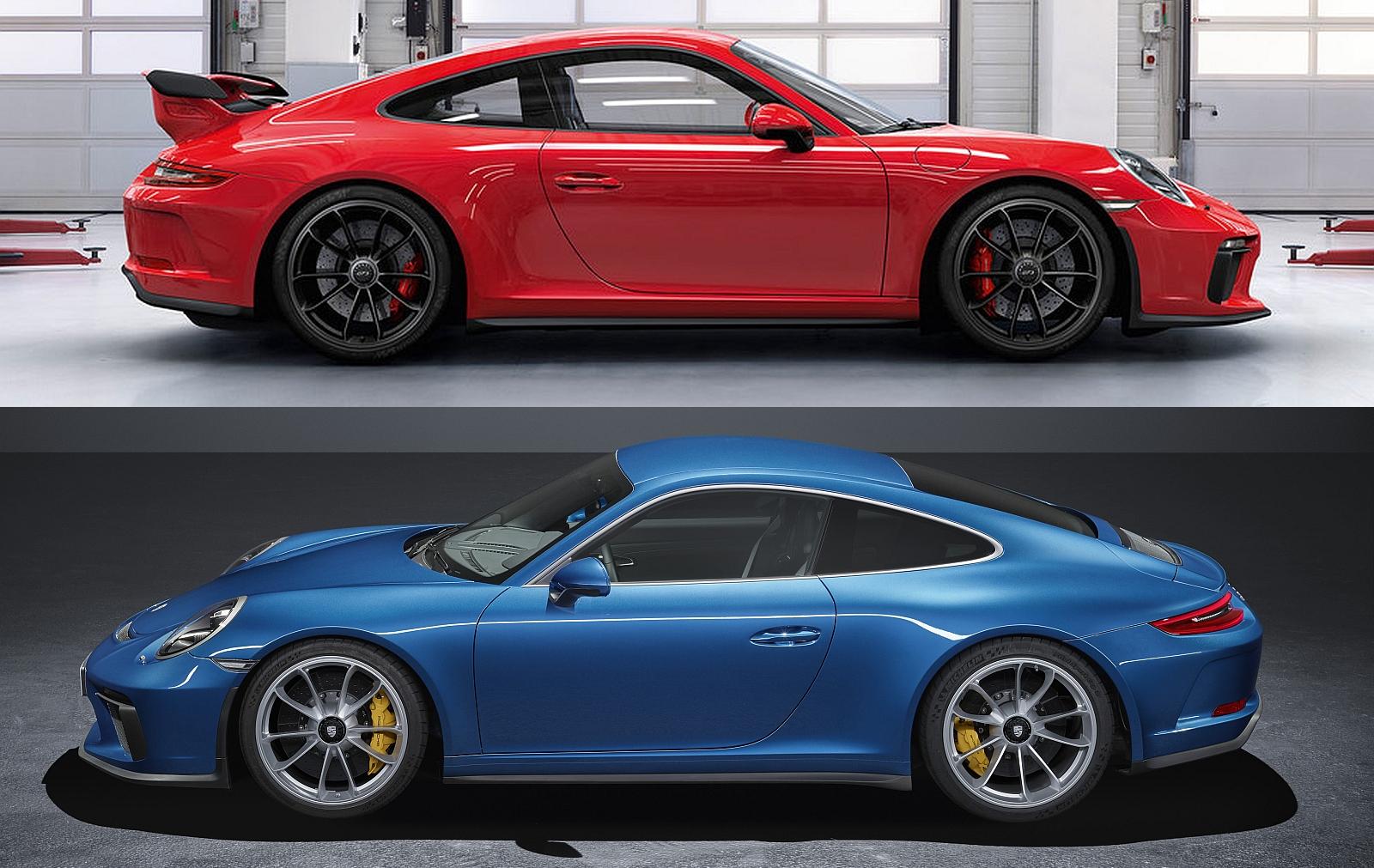 Porsche 911 GT3 versus 911 GT3 Touring Package