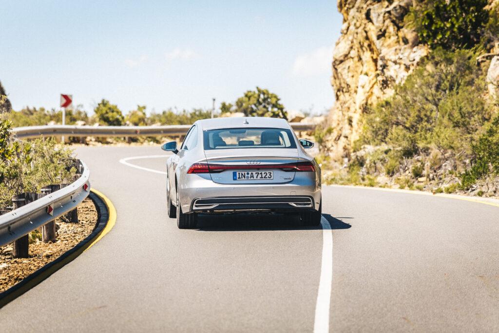 coupé rond de kaap met de Audi A7