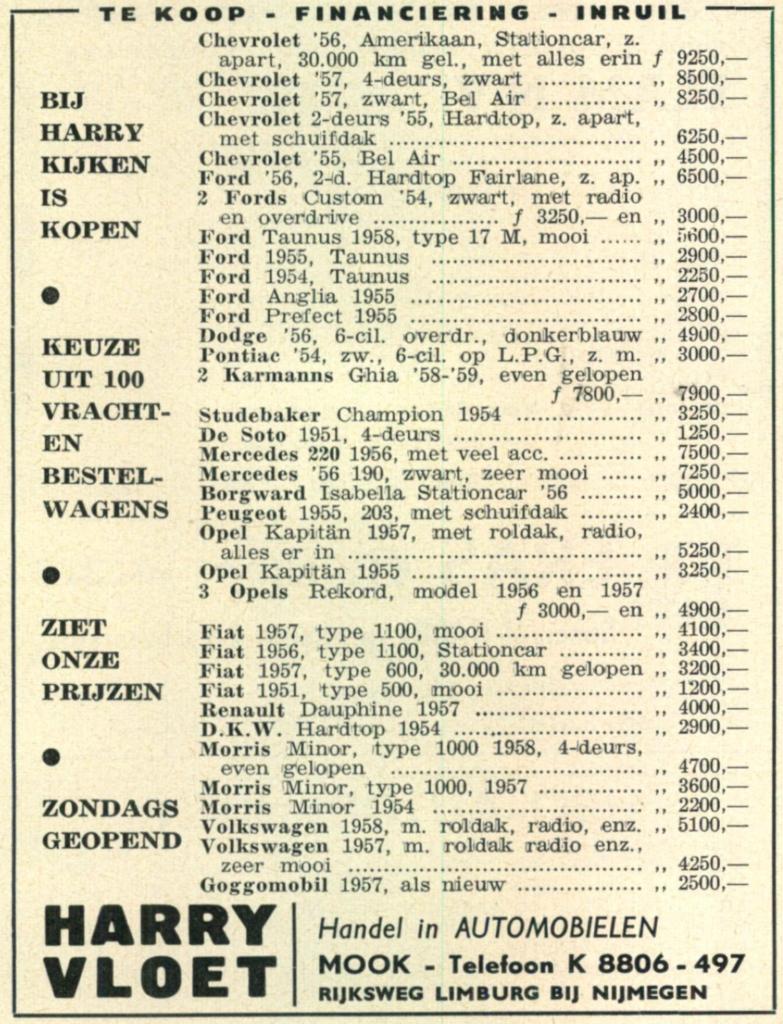 Advertenties 1958-1959-1960