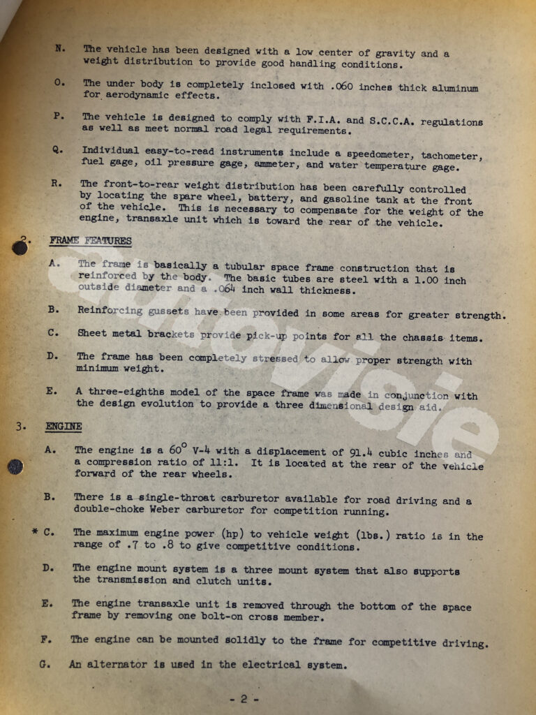 Press release Ford Mustang 1962 - archief House of Petrolhead
