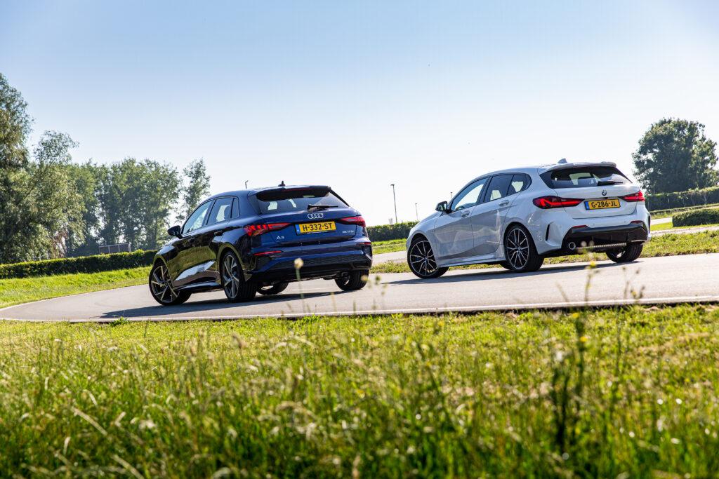Dubbeltest Audi BMW back