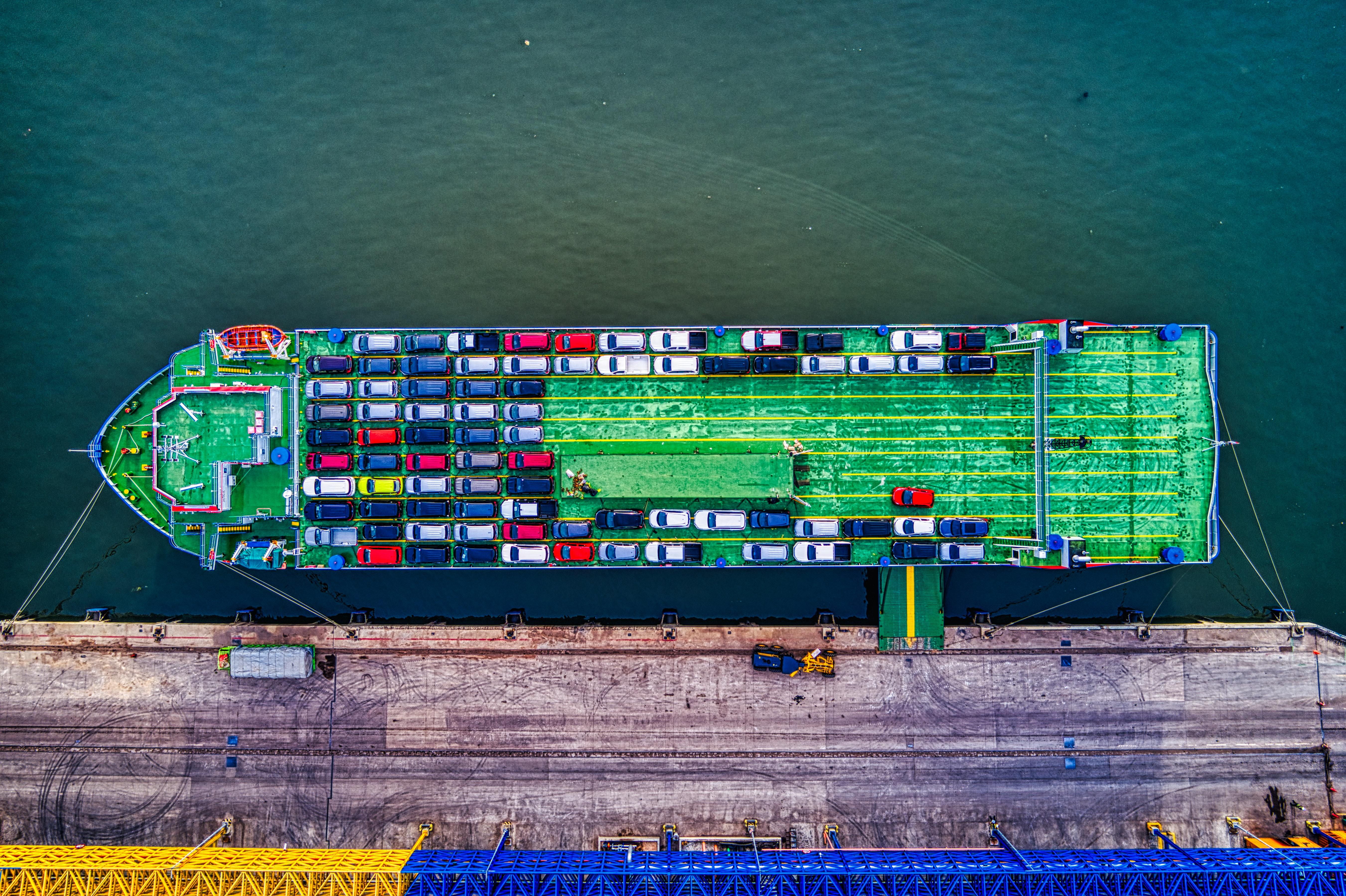Import auto's op boot