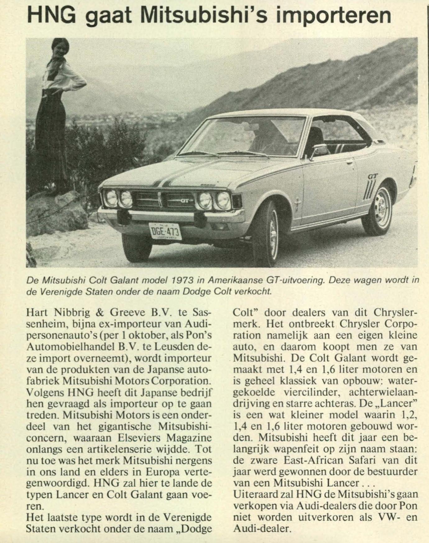 Mitsubishi 1974 Nederland