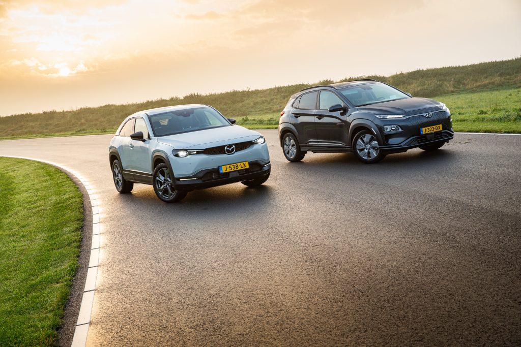 HyundaiKonaElectric vs. Mazda MX-30 duo