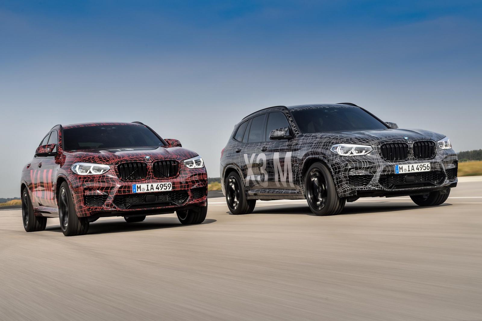 BMW X3 M en BMW X4 M Prototypes