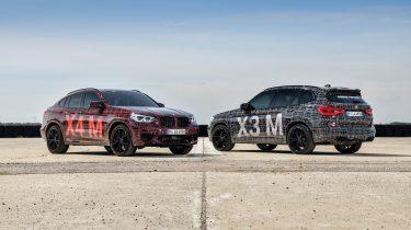 BMW X3 M en BMW X4 M Prototypes 2