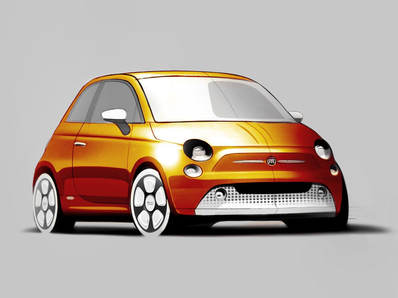 Fiat 500E designschets