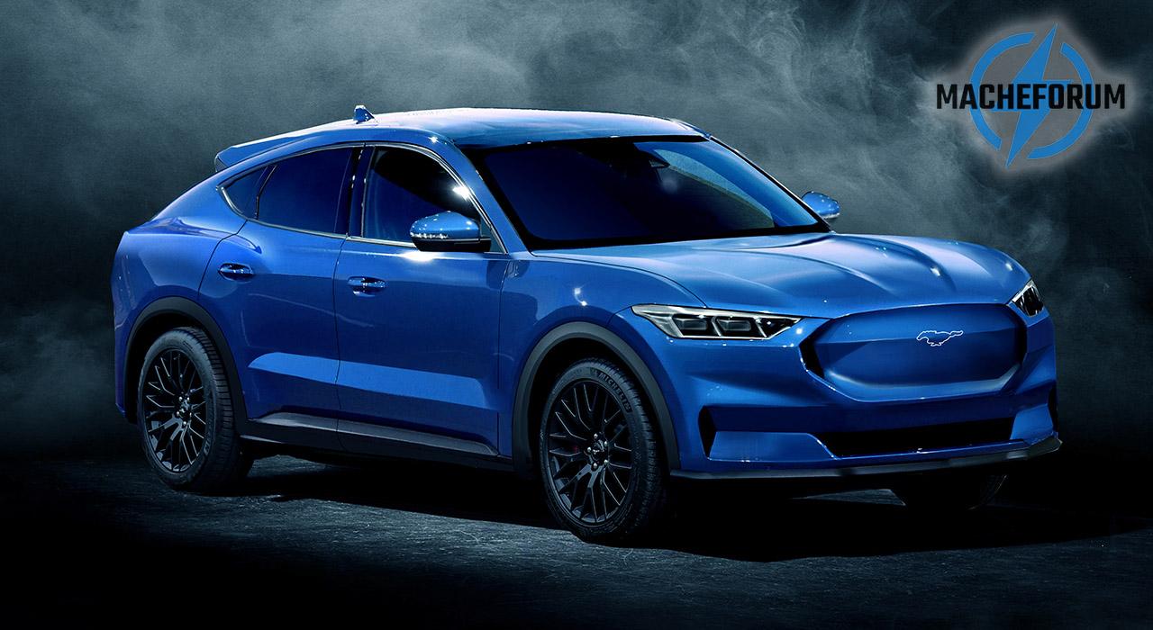 Ford Mach E Blauw