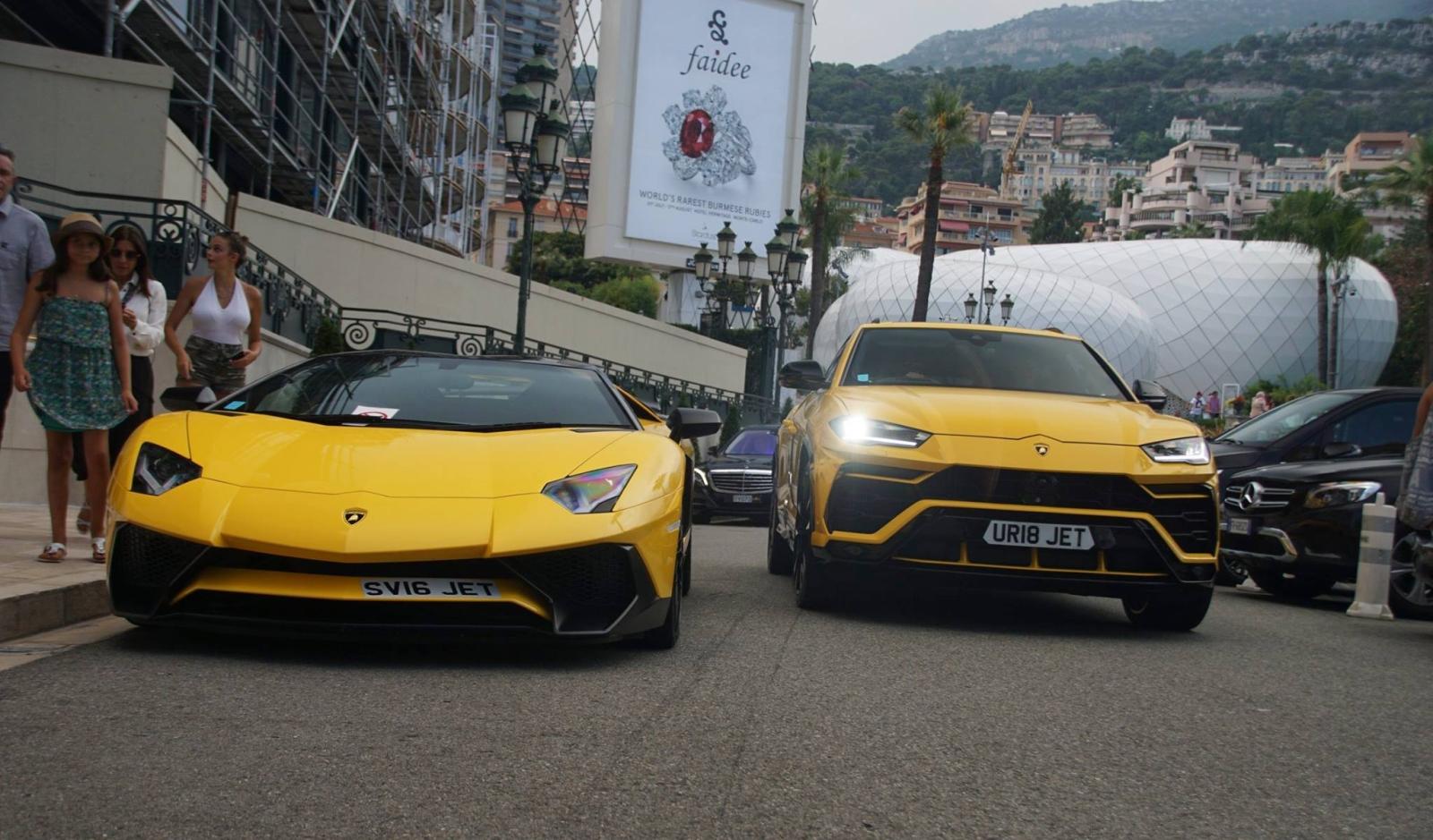 Lamborghini Aventador en Urus in Monaco
